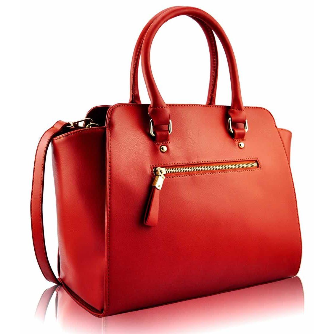 261b38ffdb9c Červená elegantní kabelka LS fashion LS00150A