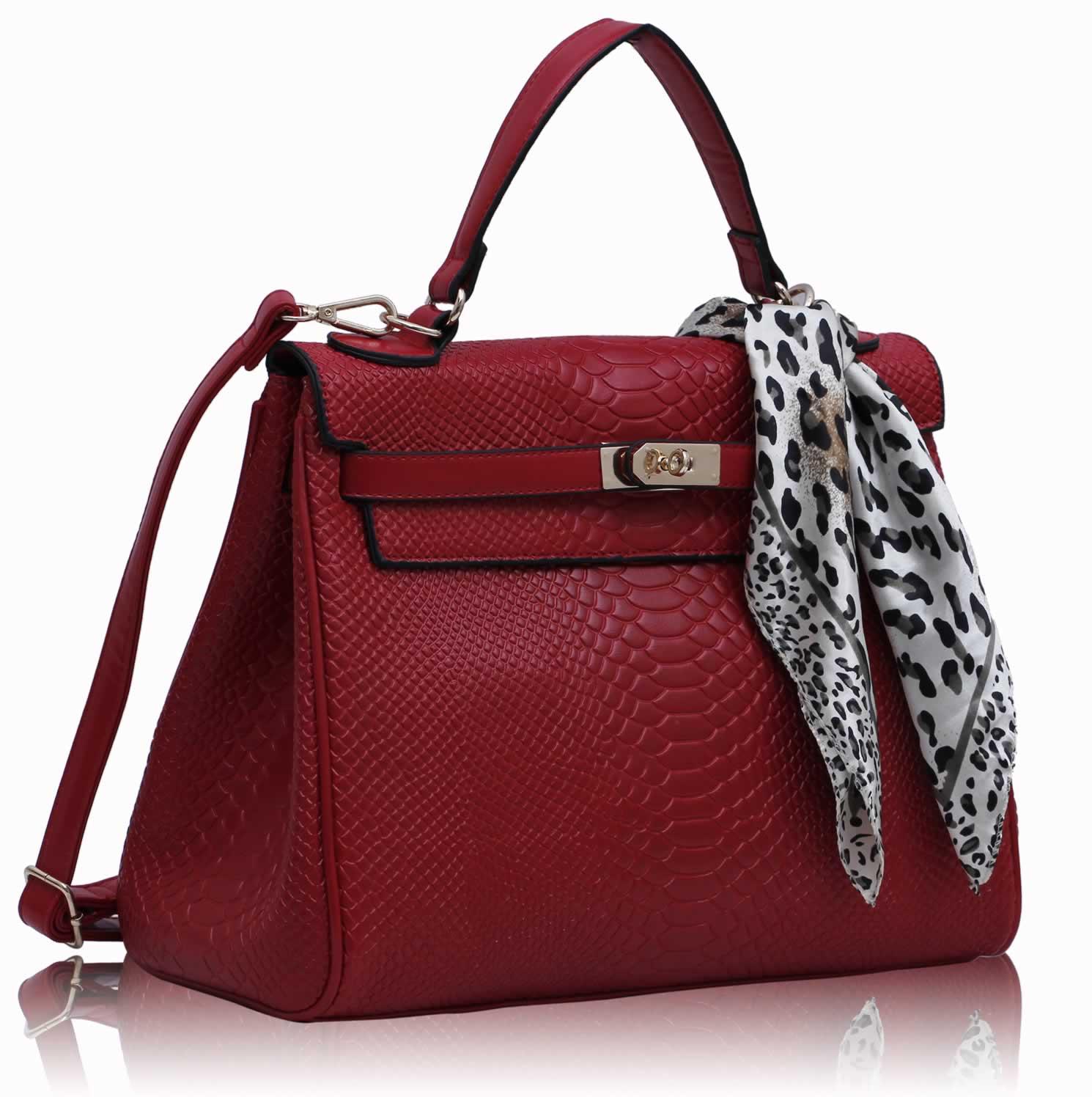 95daa4700334 Kabelka LS Fashion LS0057S červená Tote