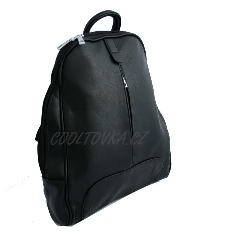 Dámský černý městský batoh Mahel - City bag 44-MH empty ca0db16181