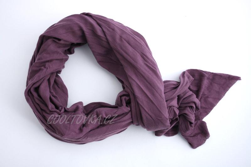 Bavlněná šála fialová Nella 90x180cm SB-001 6bd3de3312