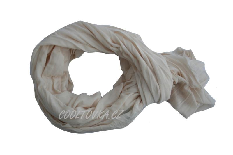 Bavlněná šála béžová Nella 90x180cm SB-009 9b82859d93
