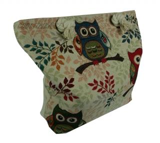 Dámská textilní taška FB-01 béžová se sovami f087087eb4